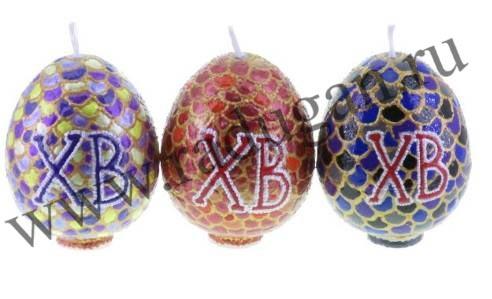 Свеча пасхальное яйцо